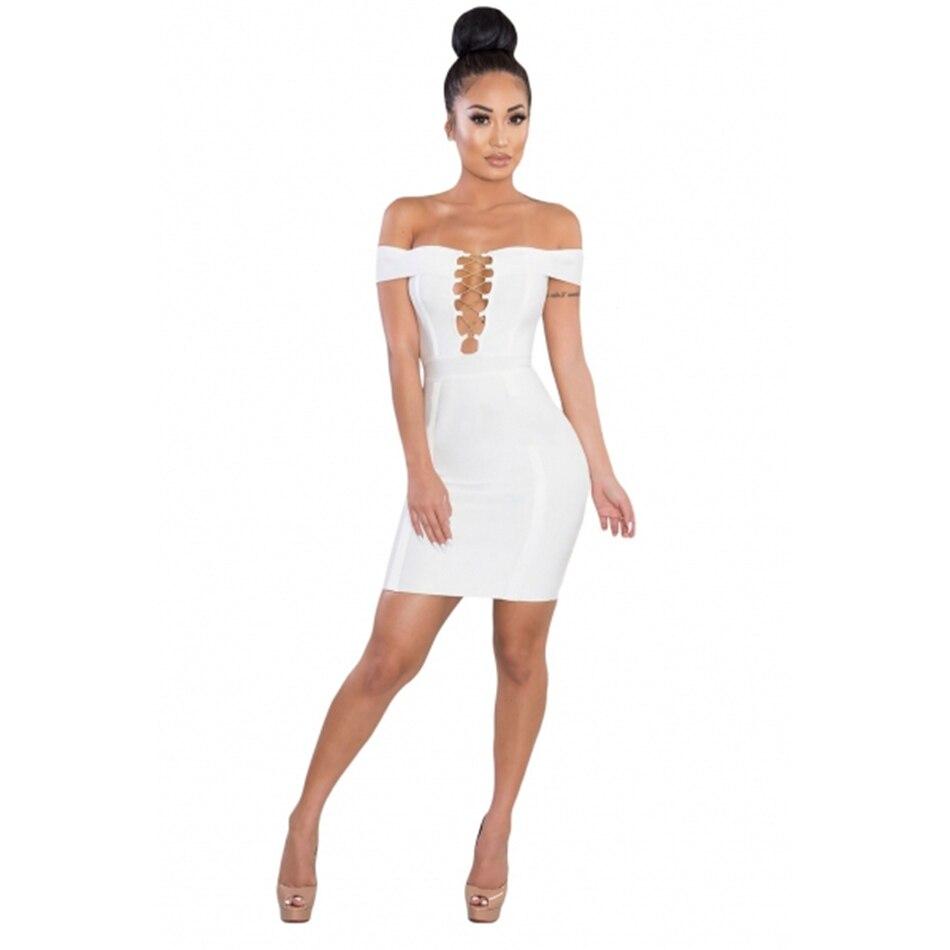 gold-chain-crisscross-lace-up-white-bandage-dress