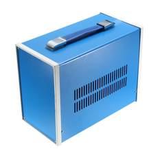 Uxcell Metal Iron DIY elektryczna skrzynka przyłączeniowa obudowa obudowa projekt obudowa obudowa na zewnątrz kryty niebieski