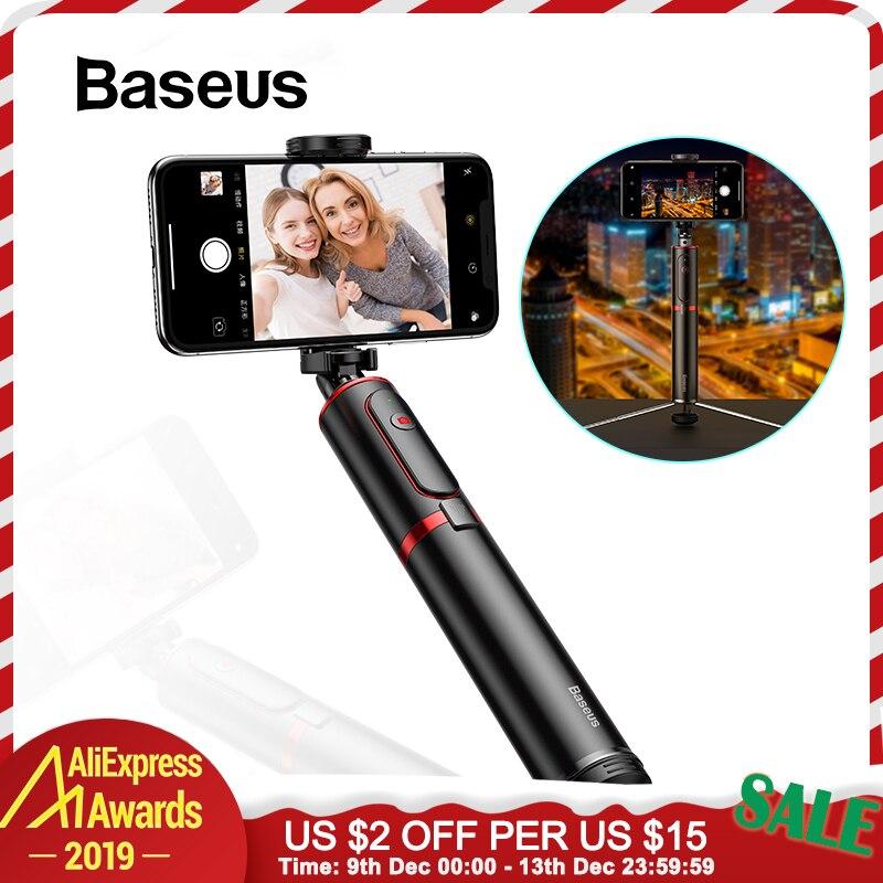 Baseus sans fil Bluetooth selfie bâton avec monopode extensible à distance selfie bâtons trépied pour iPhone Oneplus Huawei palo selfie