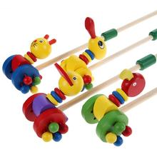 Kids Wooden Toys Duck Cartoon Baby Coagent Toddler Putting Animals Wooden Puzzle