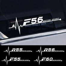 Autocollants de décoration pour vitres latérales de voiture, 2 pièces, pour Mini Cooper F56 F54 F57 F55 F60 R50 R52 R53 R55 R56 R57 R58 R59, accessoires