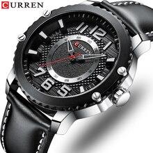 Sport Chronograph Military Army Men Watch Top Brand Luxury Wristwatch men Leather Quartz CURREN watches Male Relogio Masculino