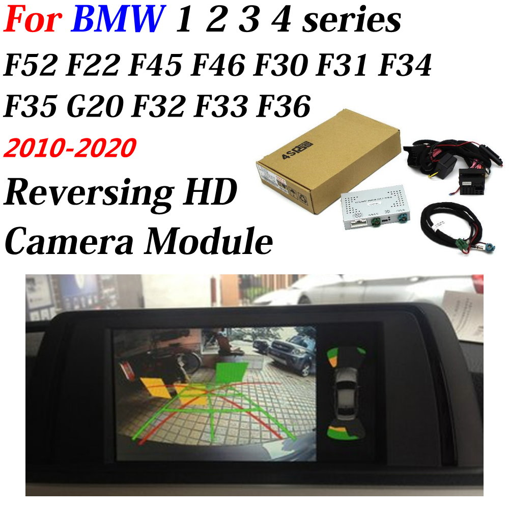 Car Rear Backup Camera For BMW 1 2 3 4 Series F20 F22 F30 F45 2010-2020 HD Reverse Parking CAM Original Screen Upgrade Decoder