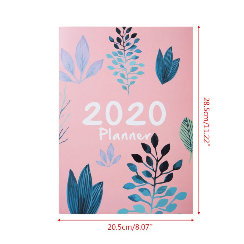 2020 Notebook Planner Organizer A4 Notebook Monthly Agenda DIY Magazines Kawaii