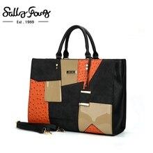 Torba kobieca torebki markowe wysokiej jakości torebki kobiece kobiety Patchwork torba na drobiazgi Saffiano wisiorek metalowy kobiet torebki duża