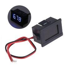 Dc 45 30v Мини светодиодный цифровой дисплей Вольтметр 2 провода
