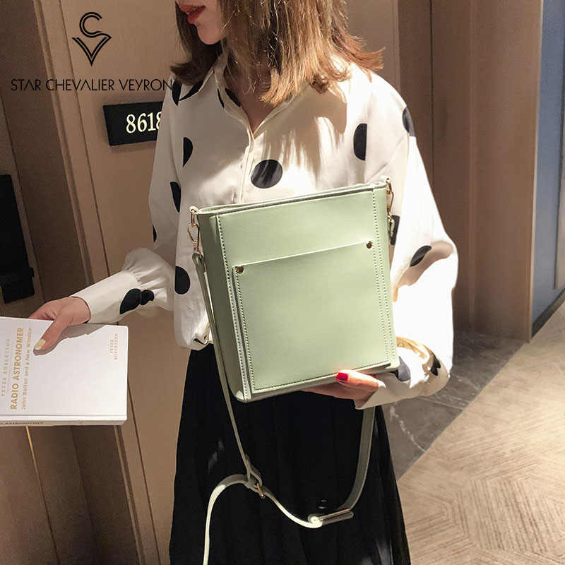 SCV 4 new color 2019 women bag 2 in 1 PU Shoulder bag Bucket bags handbag Solid crossbody Bags