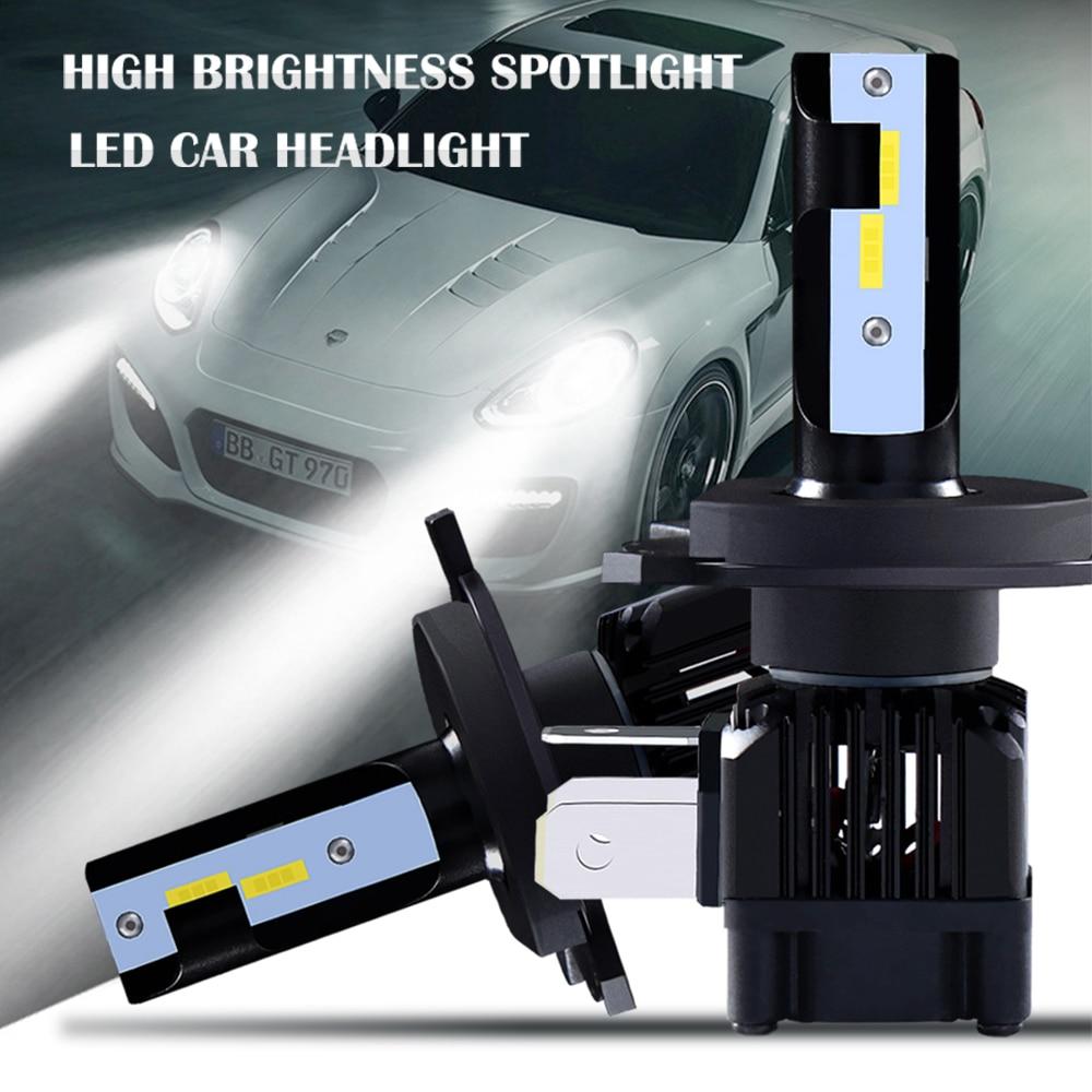 M&C 2PCS Car LED Headlight Bulbs H1 H3 H4 H7 H11 9005 HB3 50W 6000K LED 9006 HB4 Auto Head Lamp COB Bulbs Fog Lights Pakistan