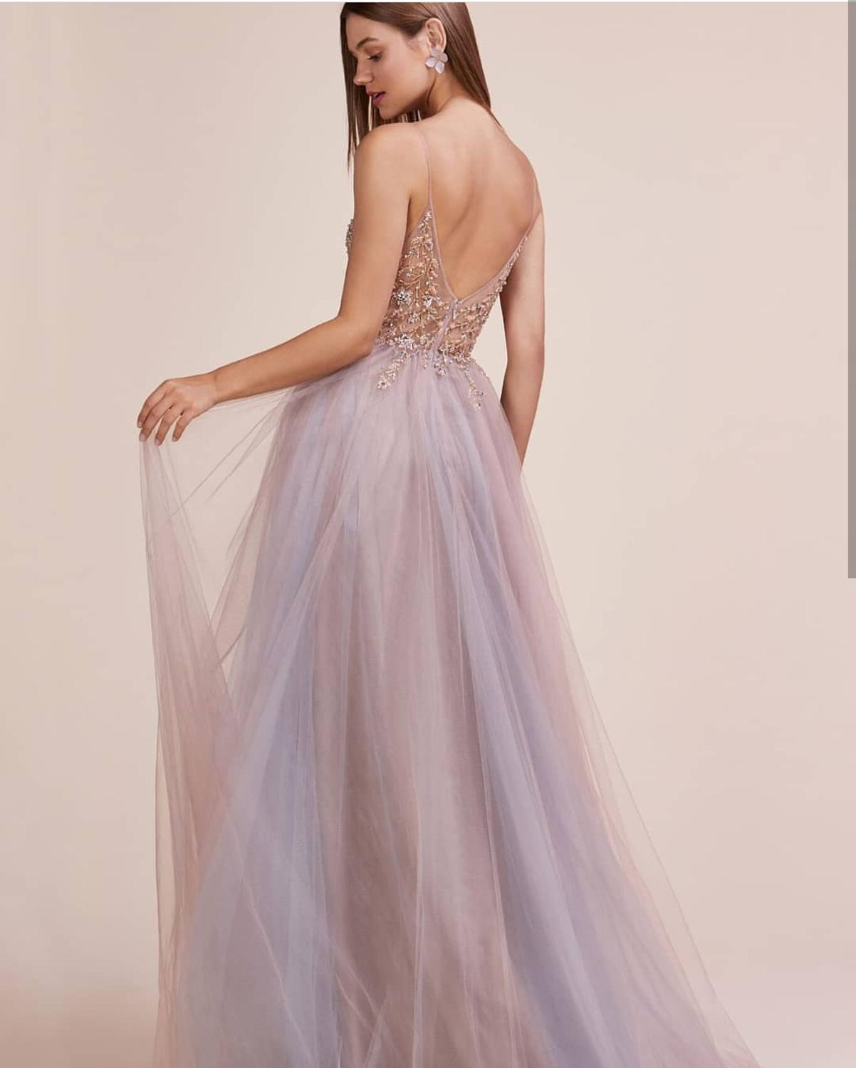 Prom Dress 2021 A-Line Pink Crystal Beaded Sleeveless Floor Length Side Slit Tulle Backless Women Formal Party Gowns Charming