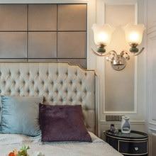 Led yatak odası başucu duvar lambası Modern oturma odası restoran koridor sanat braketi ışık S altın koridor merdiven ışıkları