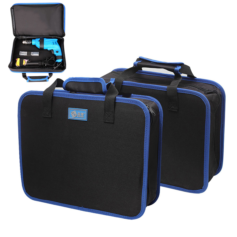 350x270mm Multifunction Home Tool Bag Electrician Tool Electric Drill Storage Case Bag Canvas Thickening Toolbox Instrument Case