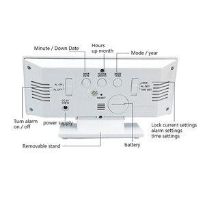 Image 5 - 디지털 알람 시계 LED 미러 시계 다기능 디지털 알람 시계 표시 시간 밤 테이블 데스크탑 Despertador