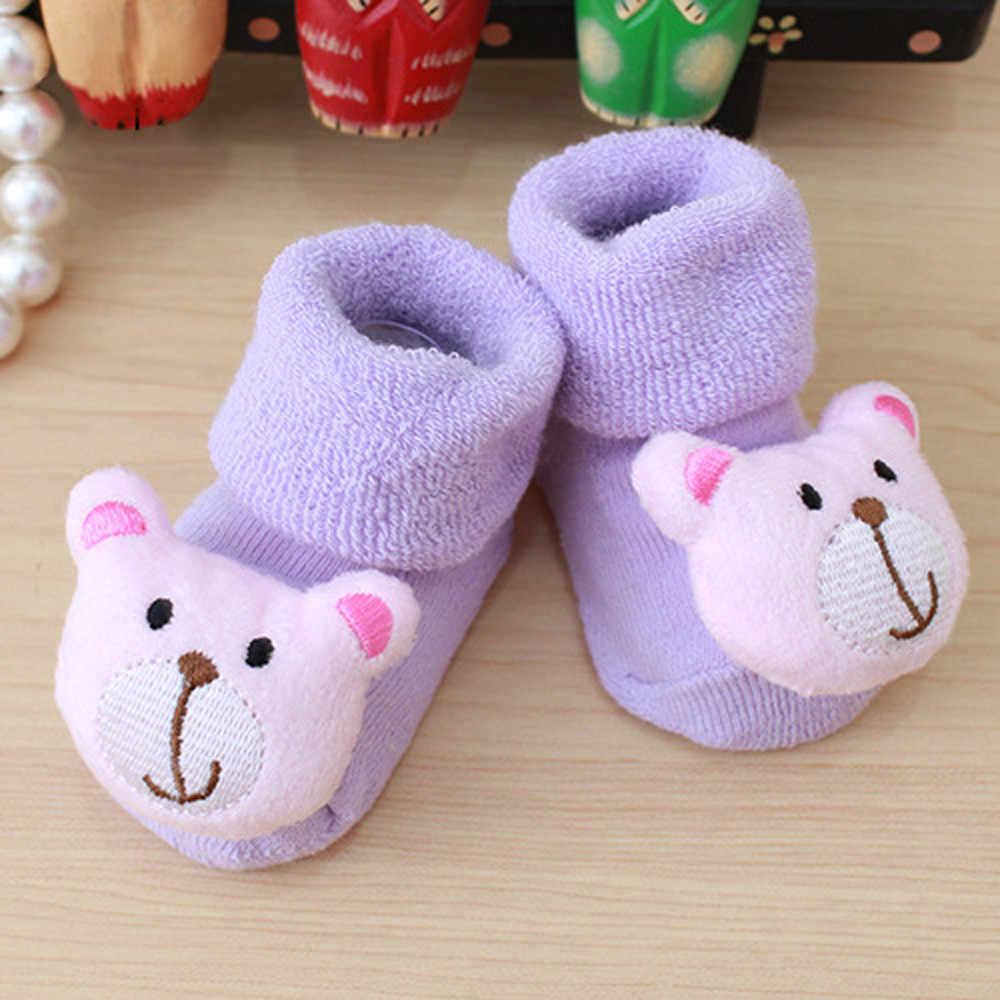 Calcetines de bebé de dibujos animados bebé recién nacido chico s bebé niñas niños Anti-Slip caliente Calcetines botas Zapatos Niños chico suave Calcetines C800 #