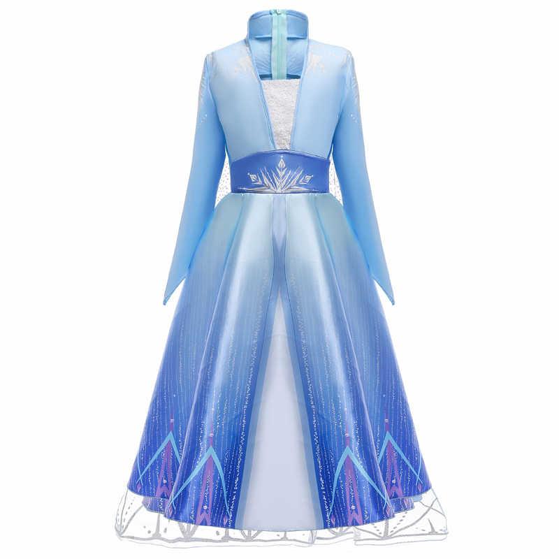 2020 คอสเพลย์ Snow Queen Elsa ชุด Elza เครื่องแต่งกายหญิงชุดสำหรับสาว Anna Princess Party เด็ก Vestidos Fantasia เสื้อผ้า