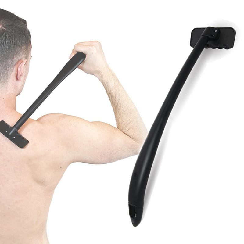 Pain-free Back Shaver Razor Trimmer Long Handle Shaving Knife Manual Epilator For Men Body Leg Hair Removal Tool Drop Shipping