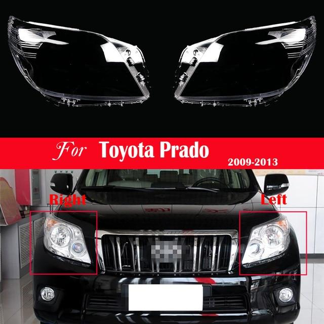 ไฟหน้ารถเปลี่ยนเลนส์ด้านหน้าโปร่งใสอัตโนมัติสำหรับ Toyota Prado 2009 2010 2011 2012 2013ไฟหน้าโปร่งใส