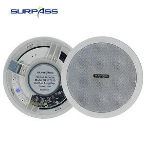 Image 5 - Altavoz de techo con Bluetooth amplificador Digital de clase D, resistente al agua, altavoz de carga activo de 10W y 5 pulgadas para reproducción de música en interiores