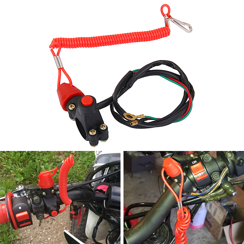 70cm Motorcycle Engine Kill Stop Switch Boat Outboard Engine Motor Kill Stop Switch Safety Lanyard For Marine ATV Quad Yacht