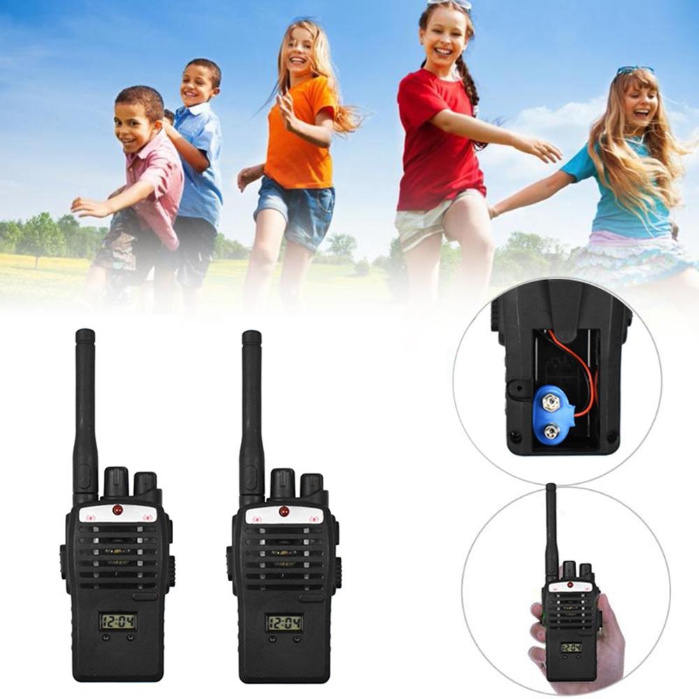Durable 2Pcs Wireless Walkie Talkie Lightweight Children Kids Electronic Interphone Intercom Toy Set рация
