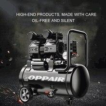 Oppair ac óleo-livre silencioso pistão compressor de ar 8bar 30l tanque de ar litro usado para o reparo do carro uso dental ferramenta pneumática oilless