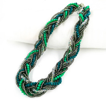 Luxury Statement Braid Necklaces Collar 2019 Crystal Beads Choker Necklaces Women Fashion Jewelry Wholesale Gifts