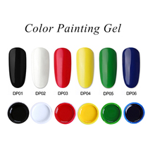 Top Sell Gel Paint 36 Colors Painting Gel Set UV&LED Nail Gel Polish Nail Lacquer Gel Sliver Golden Glitter все цены