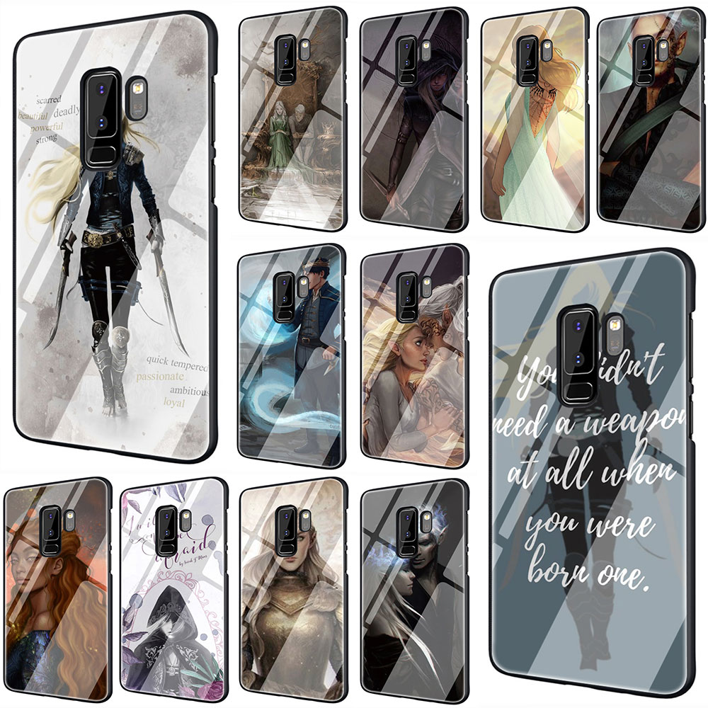 Throne Of Glass Tempered Glass Phone Cover Case For Galaxy S7 edge S8 9 10 Plus Note 8 9 10 A10 20 30 <font><b>40</b></font> 50 <font><b>60</b></font> 70 image