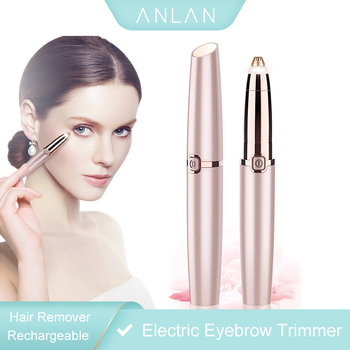 Rechargeable Electric Eyebrow Trimmer Makeup Painless Eye Brow Mini Shaver Razors Portable Facial Hair Remover Women depilator