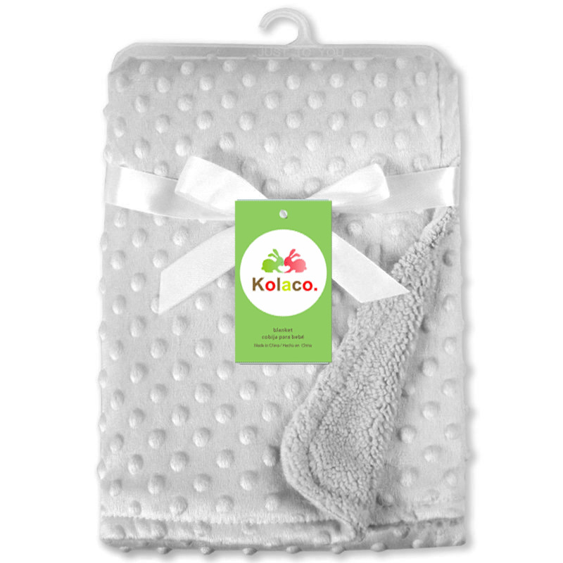 75*100CM fleece soft baby blanket minky blankets quilt kids bedding cover bebe couverture baby deken