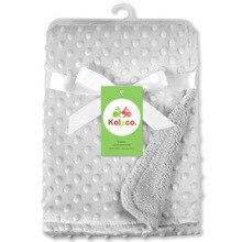 75*100CM fleece soft baby blanket minky blankets quilt kids bedding cover bebe couverture dekens items for newborns