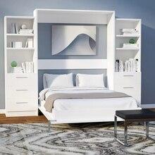 Белая или черная Выдвижная кровать из стены, электрическая система невидимая кровать Мерфи для Пакистана