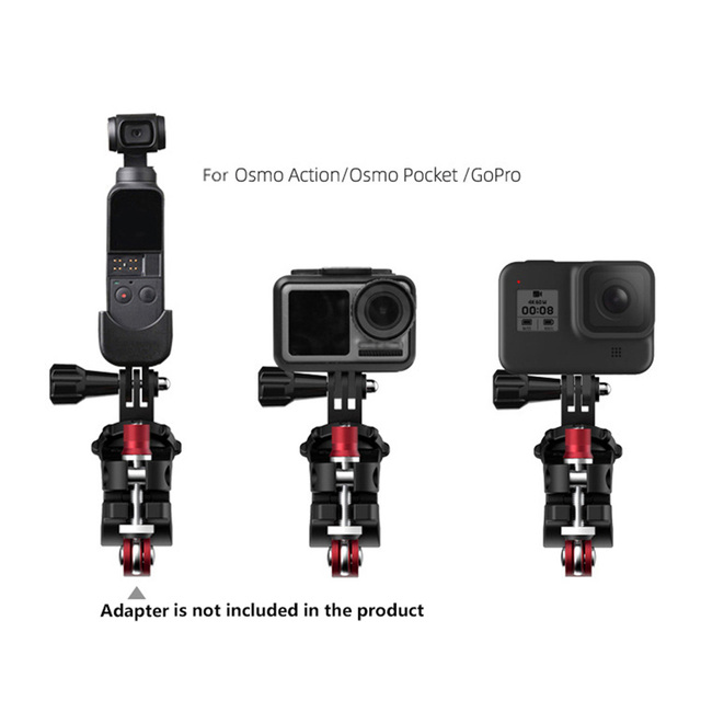 Caméra de sport vélo pince réglable vélo de route Support pour GoPro pour Osmo Action pour DJI Osmo poche Action caméra pièces de rechange