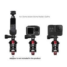 Spor kamera bisiklet kelepçe ayarlanabilir yol bisikleti desteği GoPro için Osmo eylem DJI Osmo cep eylem kamera yedek parçaları