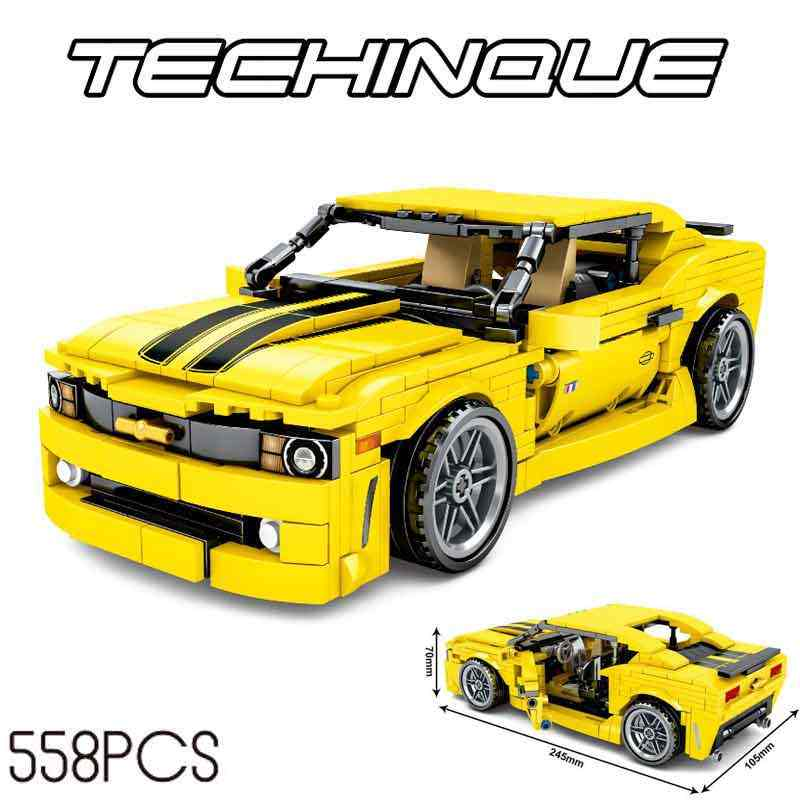 701504 City speed sports Cars Compatible legoinglys technic Racing robot yellow car Assembles model Building Blocks Toy 558pcs