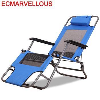 Exterieur Camping Mueble Recliner Chair Mobilya Cama Plegable Folding Bed Lit Garden Furniture Salon De Jardin Chaise Lounge