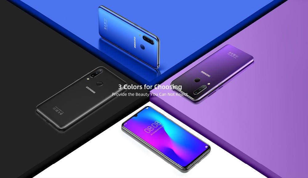 H7839a930c9dc48d8a7faf30314010bc68 DOOGEE N20 New 2019 Smartphone 6.3inch FHD+ Display 4350mAh 4GB+64GB Octa Core 10w charge Fingerprint 16MP Triple Back Camera