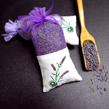8 Pcs/Pack 100% Pure Natural Purple French Dried Lavender Sachet for Drawers Closets Fresh Scents Home Fragrance Sachet