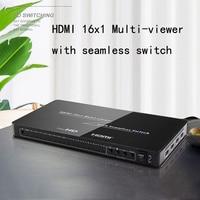HDMI 16x1 Multiviewer Seamless Switch HDMI Video Switcher Converter HD 1080P 4/ 8 /16 Screens TV HDTV Display 16 input 1 output