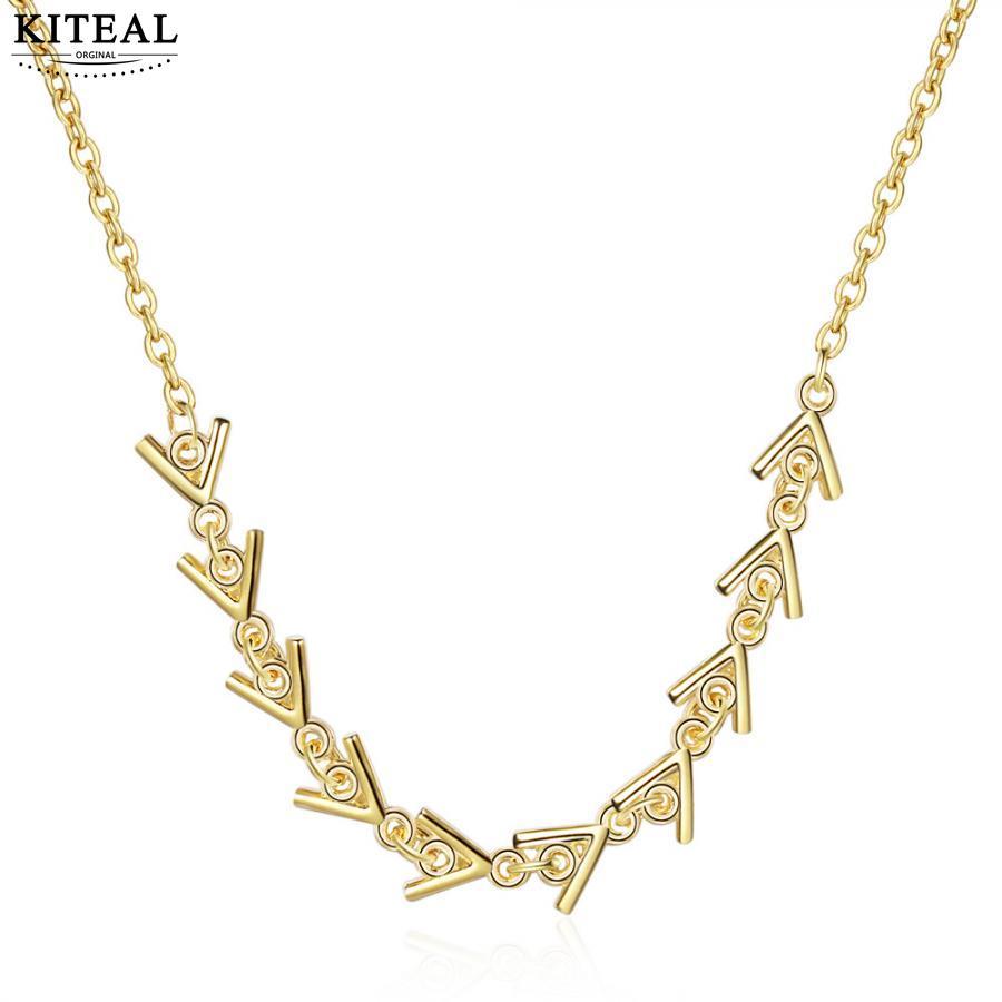 KITEAL Mode Design silber farbe Weibliche Freund halskette ketten geometrische und rund maxi halskette bijoux frauen