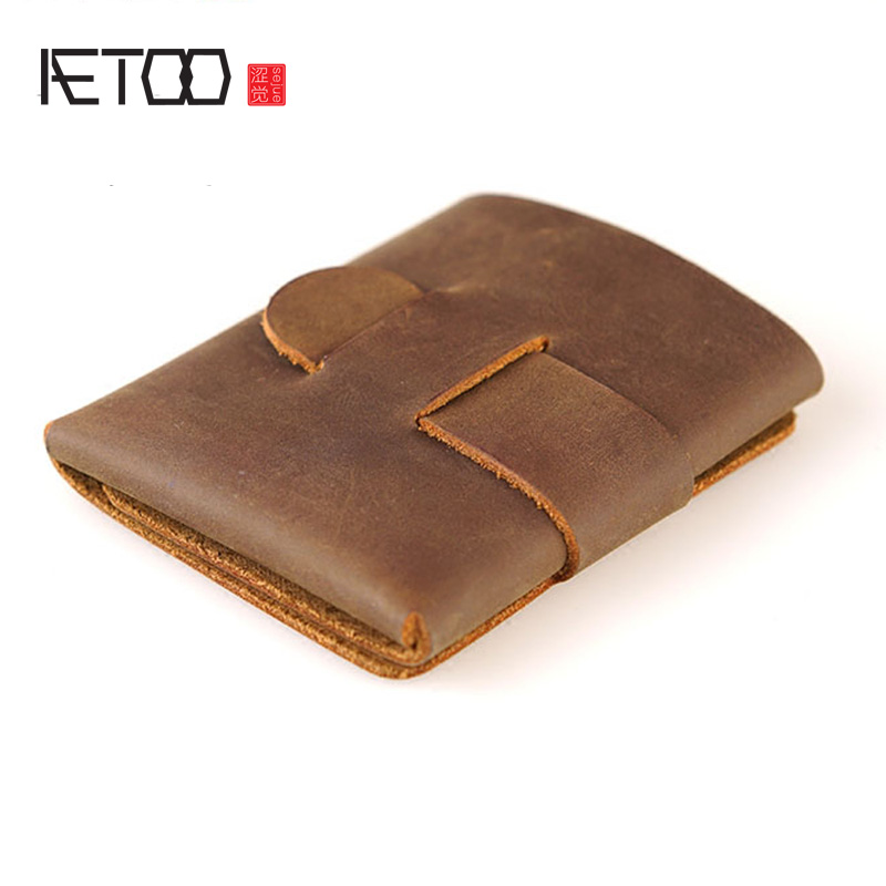 AETOO A Leather Wallet Features An Alternative Original Minimalist Original Design Crazy Horse Wallet