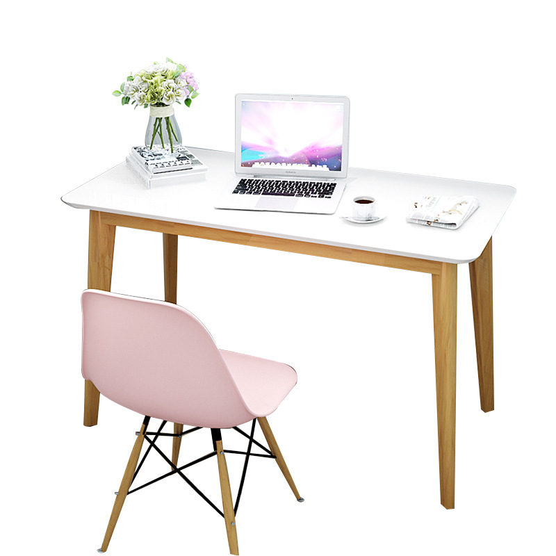 Computer Desktop Student's Household Solid Wooden Desktop Dining Table Simple Modern Girls'office Bedroom Writing Table