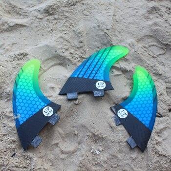 tabla de surf FCS G5 fins Free shipping Board Surf Fins Fibreglass Surfboard fcs 1 M size thruster fin