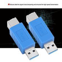 Высокоскоростной USB3.0 штекер в B Женский конвертер адаптер для расширения принтера