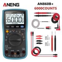 ANENG AN860B + Tester Digital Multimeter Profesional 6000 Zählt Detektor Tester Spitzen Multimetro Meter analogico esr Lcr meter-in Multimeter aus Werkzeug bei