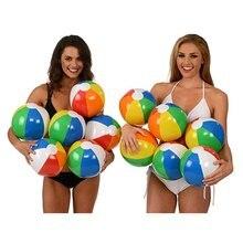 30 см цветной надувной шар детский игровой водный поло 6 цветов пляжный игрушечный мяч пляжный мяч цветной