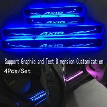 4 шт./подходит для AXIO потокового динамического светодиодный лампы двери Добро пожаловать педаль/динамическое освещение автомобиля порог для toyota corolla AXIO