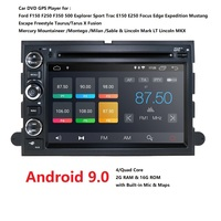 2 Din Android 9.0 Car DVD Player For Ford F150 F350 F450 F550 F250 Fusion Expedition Mustang Explorer Edge Screen Radio 2+16 DSP