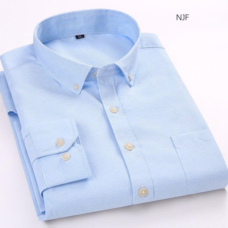 New Slim Oxford Textile Shirt Dress Shirt Men Shirt Men's Shirts Chemise Homme Male Shirts Shirts Man Long Sleeve Without Pocket