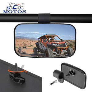 "Sclmotos- 1.5"" 1.75"" 2"" UTV ATV Motorcycle Rearview Mirror Side Mirrors For Polaris RZR 800 900 1000 for Yamaha Quad Bike Racing(China)"