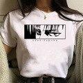 Футболка Kawaii, футболка «атака на Титанов», Женская милая аниме, унисекс, крутая футболка в стиле хип-хоп, уличная одежда, топы, футболки, женс...